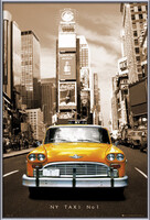 New York taxi no. 1 Poster înrămat