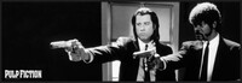 Pulp Fiction - b&w guns Poster înrămat