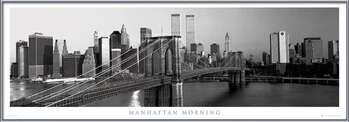 Manhattan - morning b&w Poster înrămat