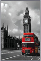 London red bus Poster înrămat