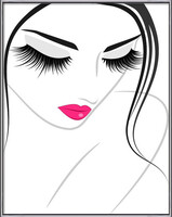 Lash extension beauty icon Poster înrămat
