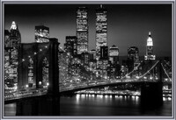 Manhattan - Night Poster înrămat