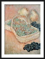 Claude Monet - The Basket of Grapes, 1884 Poster înrămat
