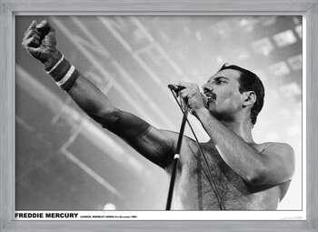 Poster înrămat Freddie Mercury - Wembley 1984