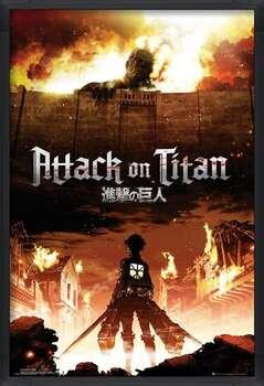 Poster înrămat Attack on Titan (Shingeki no kyojin) - Key Art