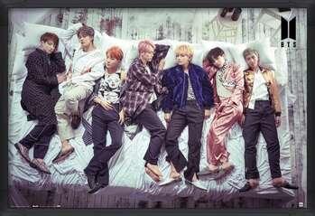 Poster înrămat BTS - Bed