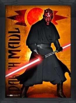 Poster înrămat STAR WARS - darth maul