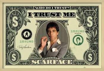 Poster înrămat SCARFACE - dollar
