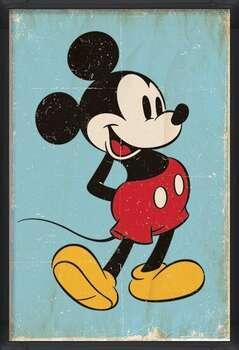 Poster înrămat Mickey Mouse - Retro