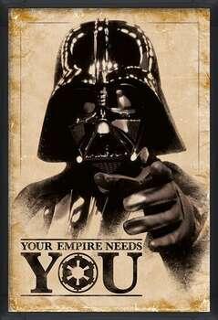 Poster înrămat Star Wars - Your Empire Needs You