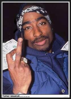 Poster înrămat Tupac - Finger