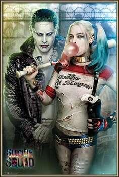 Poster înrămat Suicide Squad - Joker and Harley Quinn