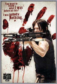Poster înrămat Walking Dead - Bloody Hand Daryl