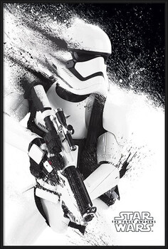 Poster înrămat Star Wars Episode VII: The Force Awakens - Stormtrooper Paint