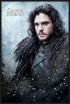 Poster înrămat Game of Thrones - Jon Snow