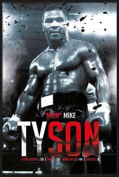 Poster înrămat Mike Tyson - Boxing Record