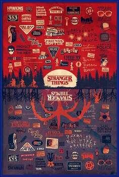 Poster înrămat Stranger Things - The Upside Down