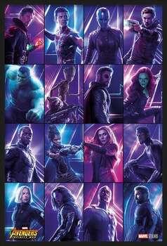 Poster înrămat Avengers: Infinity War - Heroes