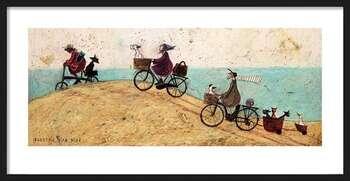 Poster înrămat Sam Toft - Electric Bike Ride
