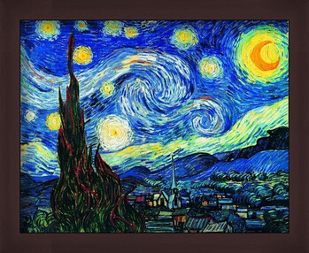 Poster înrămat The Starry Night, June 1889