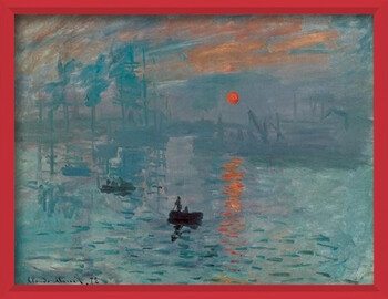 Poster înrămat Impression, Sunrise - Impression, soleil levant, 1872