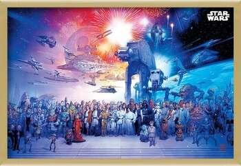 Poster înrămat Star Wars - Universe