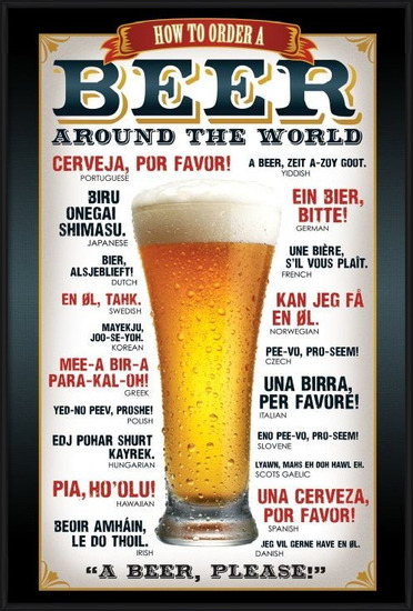 Beer – how to order Poster