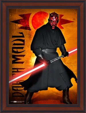 STAR WARS - darth maul Poster 3D