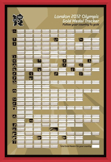LONDON 2012 - gold medal tracker Poster