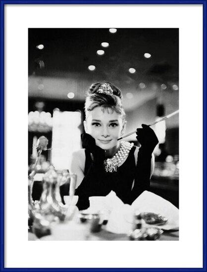 Audrey Hepburn - Tiffany b&w Reproducere