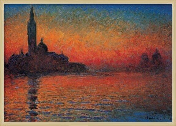 San Giorgio Maggiore at Dusk - Dusk in Venice (Sunset in Venice, Venice Twilight) Reproducere