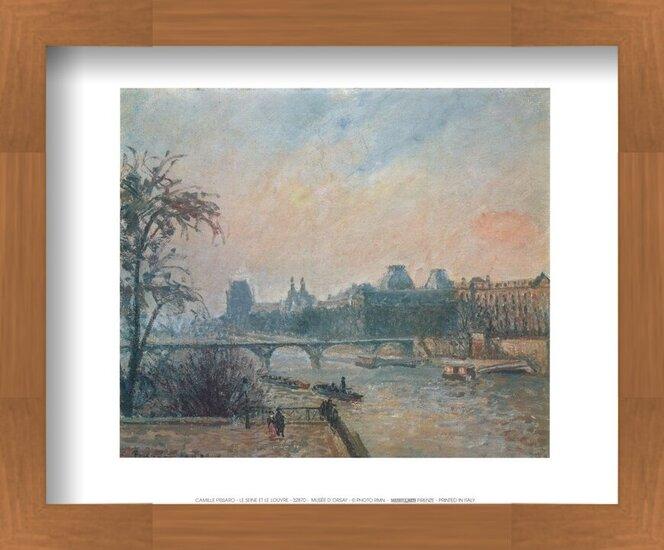 La Seine et le Louvre - The Seine and the Louvre, 1903 Reproducere