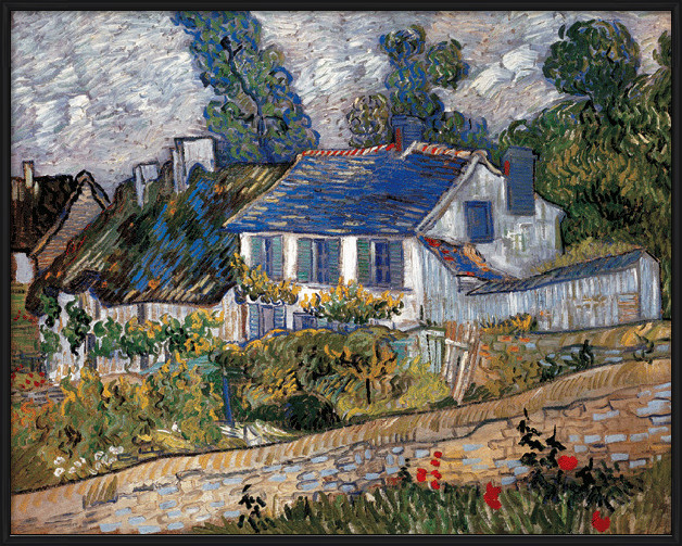Houses in Auvers, 1890 Reproducere