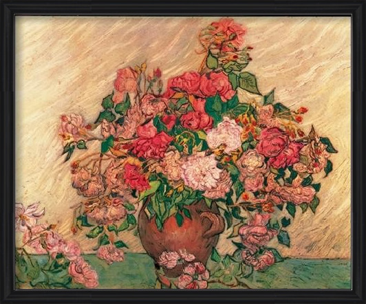 Vase with Pink Roses, 1890 Reproducere