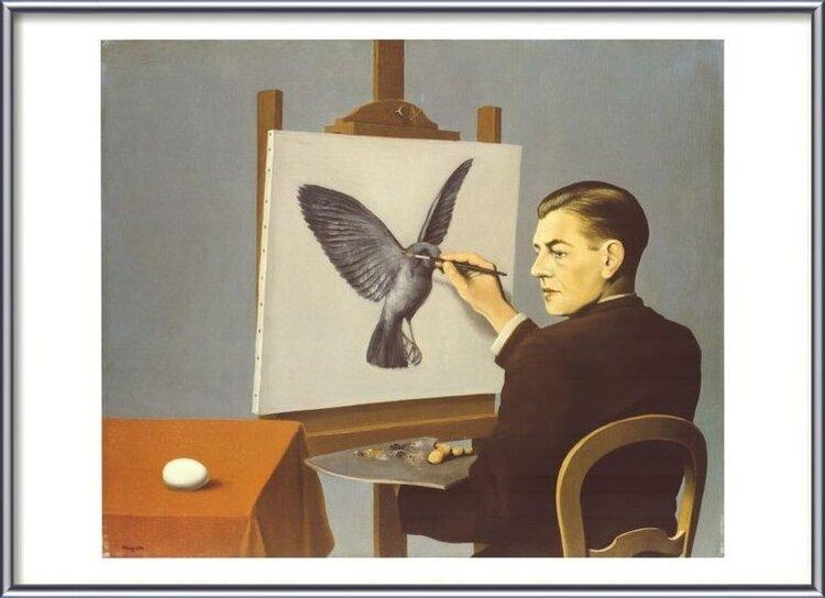 Clairvoyance (Self Portrait), 1936 Reproducere