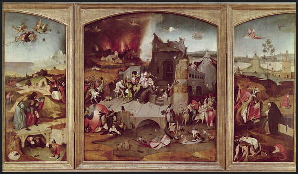 Triptych of the Temptation of St. Anthony Reproducere