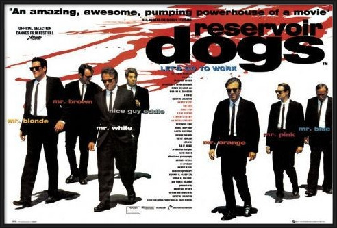 RESERVOIR DOGS - quad Poster