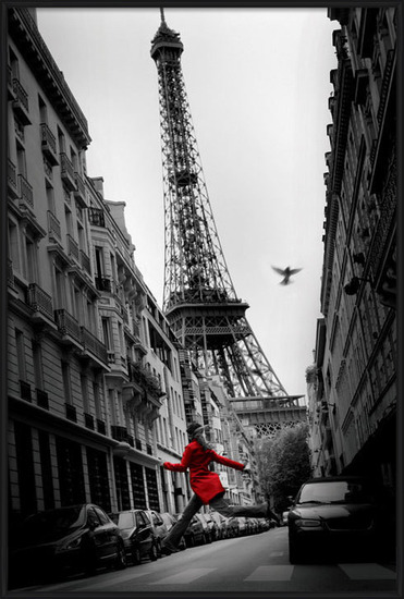 Paris - la veste rouge Poster